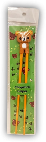 Children practice chopstick Bear