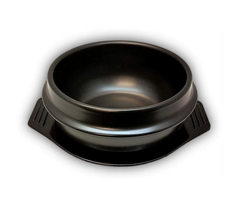 Korean Bibimbap Stone Bowl with Plate
