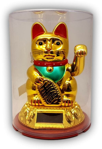 Solar-powered Shohuku Cat 15 cm