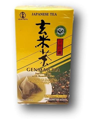 Genmai Cha vihreä tee ja ruskea riisi - pussit