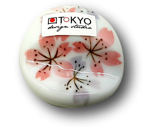 Ceramic Chopstick Holder Sakura (White)