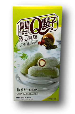 Matcha Red Bean Milk Mochi Roll