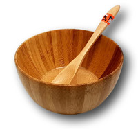 Bamboo bowl and spoon
