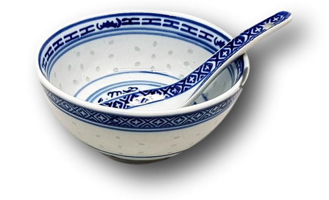 Chinese Bowl/Spoon Set