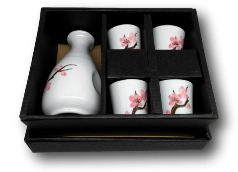 Ceramic Sake Set Sakura