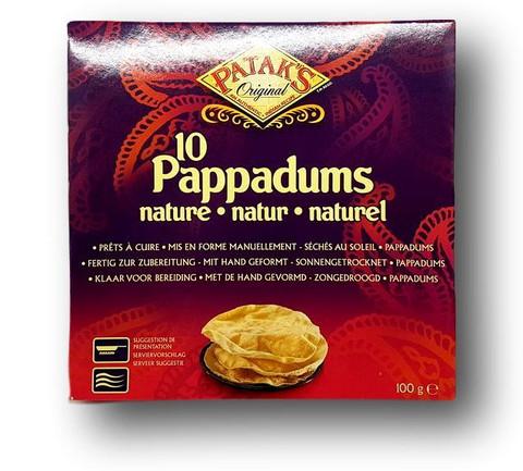Pappadums Plain Nature
