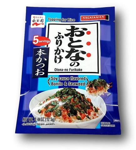 Soijakastikkeen makuinen furikake-riisimauste, bonito & merilevä