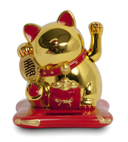 Solar-powered Lucky Cat