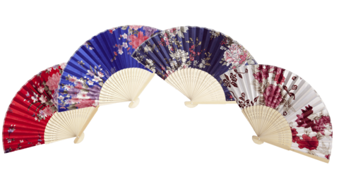 Japanese Fan, Blue