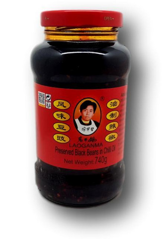 Lao Gan Ma Preserved Black Beans in Chili Oil 740 g