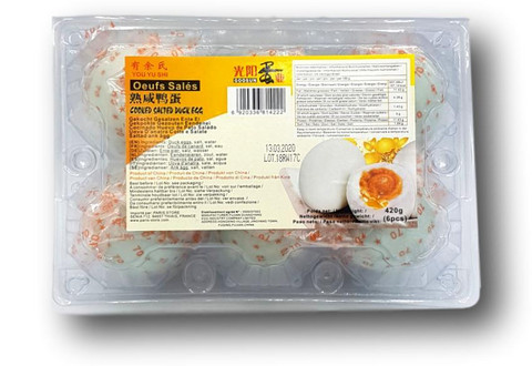 Cooked Salted Duck Egg 6 pcs