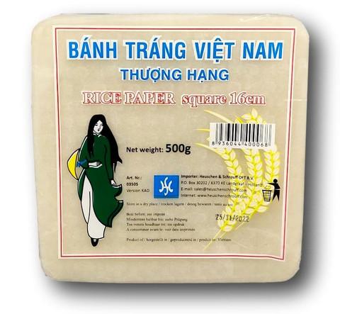 Square Rice Paper 16cm