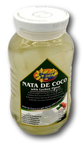 Kookosgeeli kuutiot litsi