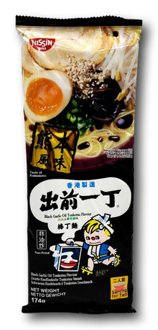 Nissin musta valkosipuliöljy Tonkotsu Nuudeli