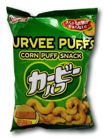 Shirakiku Curvee Puffs maissi välipala juusto