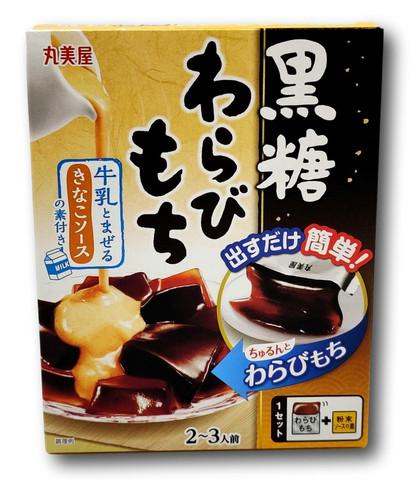DIY japanilaisia makeisia Muscavado Warabi-Mochi Kin