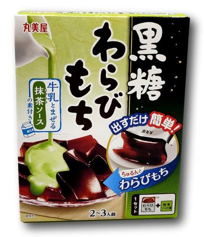 DIY japanilaisia makeisia Muscavado Warabi-Mochi Matcha