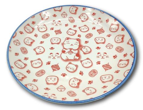Japanilainen lautanen kissa punainen 25.3cm