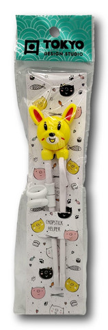 Children Chopsticks Rabbit 22cm Yellow