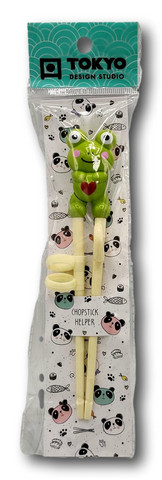 Children Chopsticks Frog 22cm green