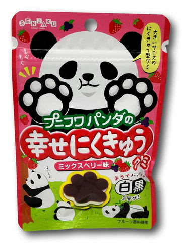 Senjyaku Puni-Fuwa Panda Nikukyu Gummy Berry 32g