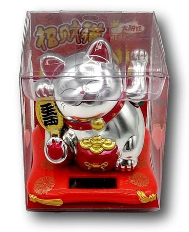 Solar-Powered Maneki-neko Cat Hello Kitty