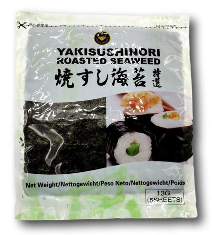 Yaki Sushi Nori Roasted Seaweed 5 kpl 13 g