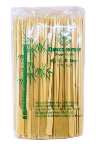 Bamboo skewer Teppo Gushi (18cm - 100 pieces)