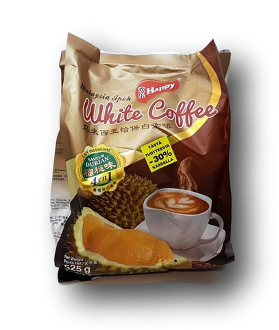 4 in 1 Instant White Coffee Durian Flavor