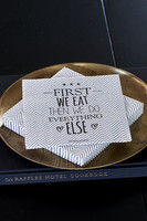 Riviera Maison Paper Napkin First We Eat