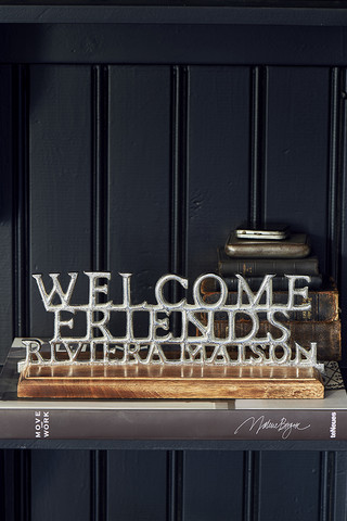 Riviera Maison Welcome Friends Statue