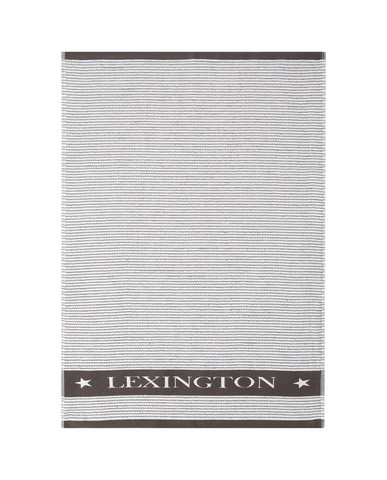 Lexington Terry Kitchen Towel White/Dark Gray 50x70