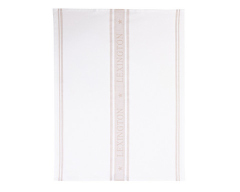 Lexington Star Kitchen Towel White/Beige 50x70