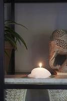 Riviera Maison Seashell Candle white