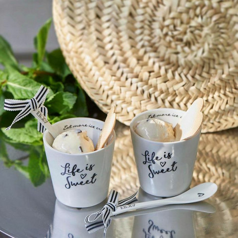 RIVIERA MAISON  LIFE IS SWEET ICE CREAM CUP 2 PCS