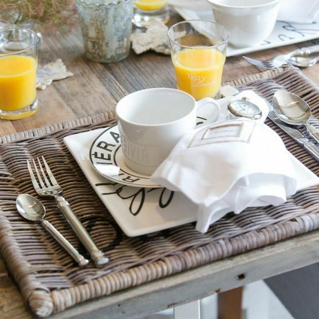 Rustic Rattan Placemat Diner Riviera Maison - Annival