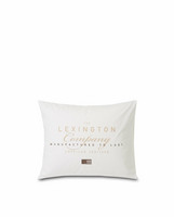 LEXINGTON PRINTED COTTON POPLIN PILLOWCASE 50X60