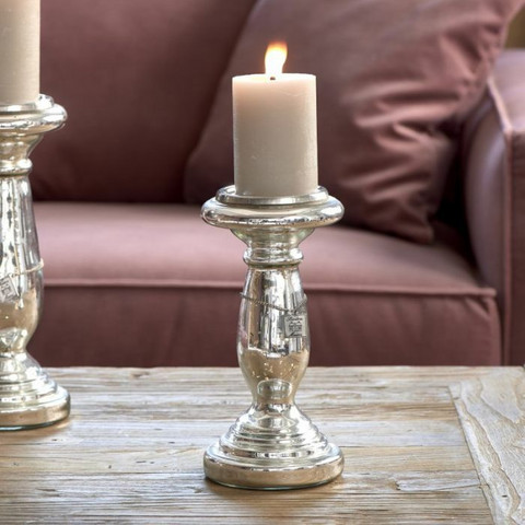 RIVIERA MAISON EDGARTOWN CANDLE HOLDER SILVER S
