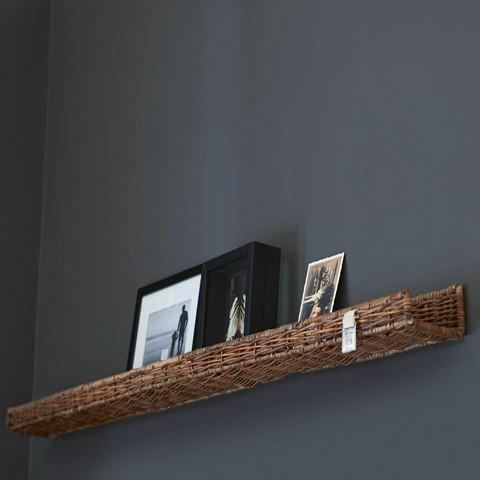 RIVIERA MAISON RUSTIC RATTAN WALL DECORATION SHELF