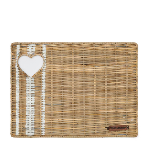 RIVIERA MAISON RUSTIC RATTAN WITH LOVE PLACEMAT
