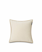 LEXINGTON VELVET COTTON PILLOWCASE WITH EDGE, OFF WHITE 50X50