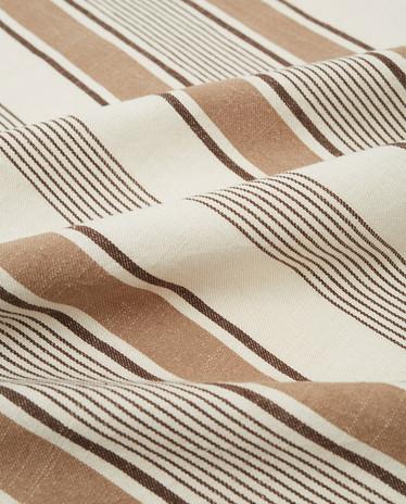 LEXINGTON STRIPED COTTON TWILL KITCHEN TOWEL WHITE/BEIGE