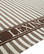 LEXINGTON STRIPED CLASSIC COTTON TWILL KITCHEN TOWEL BROWN/WHITE