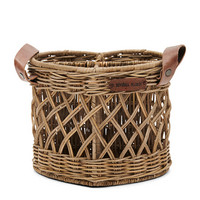 RIVIERA MAISON RUSTIC RATTAN UTENSILS HOLDER HEART