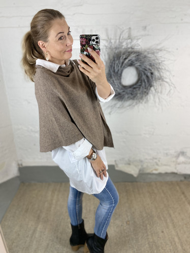 PONCHO TAUPE
