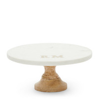 RIVIERA MAISON MAGIC MARBLE CAKE STAND WHITE