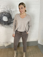 BUTTON JOGGERI TAUPE