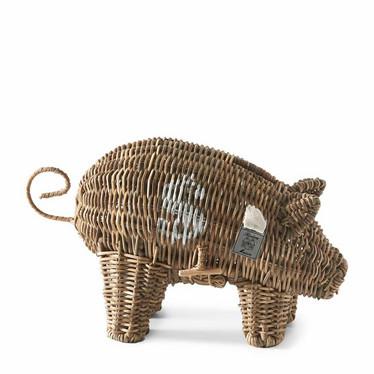 RIVIERA MAISON RUSTIC RATTAN PIGGY MONEY SAVER