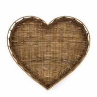 RIVIERA MAISON RUSTIC RATTAN HEART TRAY