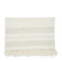 RIVIERA MAISON CLUB STRIPE THROW 170X130 OFF-WHITE